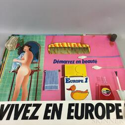 Six Vintage Europe 1 Advertising Posters