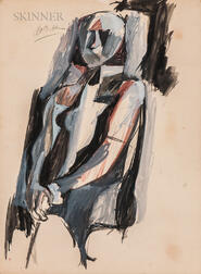 Rex Jesse Ashlock (American, 1918-1999)    Seated Figure in Grays