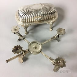 Silver-plated Footed Butter Dish and Trivet