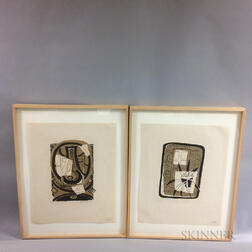 Three Framed Albert Urban (New York, 1909-1959) Still Life Prints