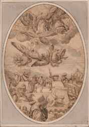 School of Paolo Veronese (Italian, 1528-1588)      The Assumption of the Virgin, A Study for a Ceiling Decoration