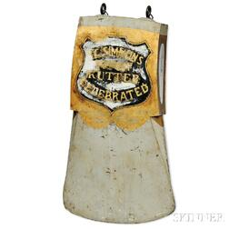 "Painted and Gilded Axe-form ""E.C. SIMMONS KEEN CUTTER"" Advertising Sign"