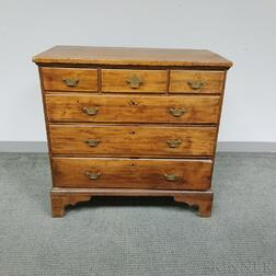 Chippendale Birch, Maple, and Pine Chest of Drawers