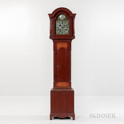 Red-painted Tall Case Clock