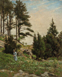 Ernest Wadsworth Longfellow (American, 1845-1921)      Study of Hillside, Manchester