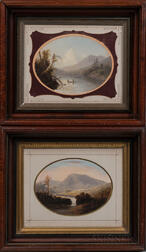 American School, Late 19th Century      Two Hudson River Landscapes