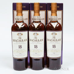 Macallan 18 Years Old, 3 750ml bottles (oc)