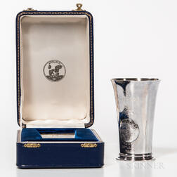 Apollo 11 Moon Landing Commemorative Sterling Silver Beaker