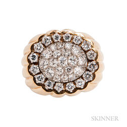 Diamond Cluster Ring, Mounted by Van Cleef & Arpels