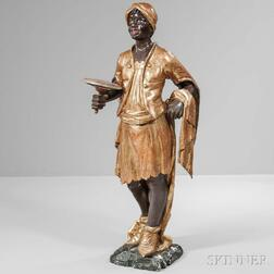 Parcel-giltwood and Painted Blackamoor Figure