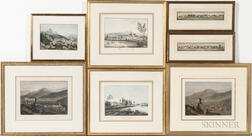 Continental School, 18th/19th Century      Seven Prints of Swiss Landscapes