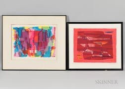 Two Framed Prints:      Gustave Singier (French, 1909-1984), L'Heure méridienne
