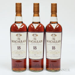 Macallan 18 Years Old, 3 750ml bottles