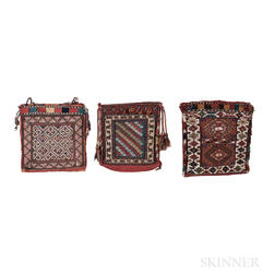 Three Shahsavan Soumak Bags