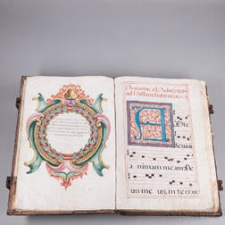 Manuscript on Parchment, Missal, Dominican Order, Calatayud, Spain, 1704.