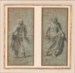 European School, 18th Century      Two Sketches After a Greek Sculpture, Front and Back