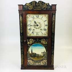Seth Thomas Stenciled and Paint-decorated Mahogany Shelf Clock