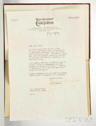 Earhart, Amelia (1897-1937) 20 HRS. 40 MIN.  , Signed Copy with Typed Letter Signed Inserted.