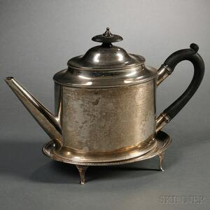 Assembled George III Sterling Silver Teapot with Stand