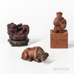 Three Small Carved Items