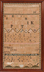 """Margery Greenleaf"" Needlework Sampler"