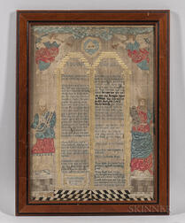 Ten Commandments Needlework Picture