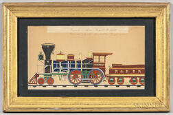 "American School, 19th Century      Portrait of the Locomotive ""Charlotte"" of the Rutland & Burlington [Vermont] Railroad"