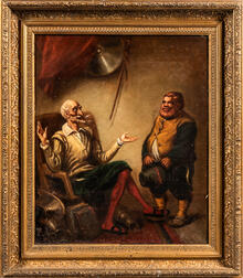 Attributed to David Gilmour Blythe (American, 1815-1865)      Don Quixote and Sancho Panza