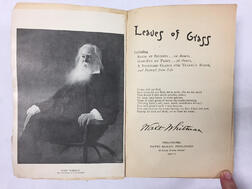 Whitman, Walt (1819-1892) Leaves of Grass,   Presentation Copy, Death-bed Edition.