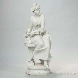 French Bisque Figure of a Woman