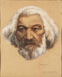 Carl G. Hill (American, 20th Century)   Pastel of Frederick Douglass