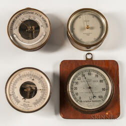 Four Aneroid Wall Barometers