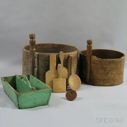 Group of Wood Domestic Items