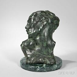 Auguste Rodin (French, 1840-1917)      Tête de la Luxure ,  a Later Casting