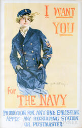 Framed Howard Chandler Christy I Want You For The Navy