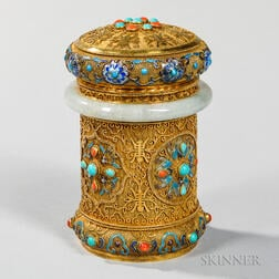 Gilt-silver Canister