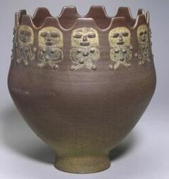Scheier Pottery Large Decorated Vessel