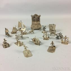 Group of Dutch Silver Miniature Figurines