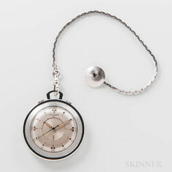 Unusual Set of a LeCoultre Wrist Alarm and Pocket Alarm Watch