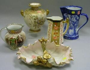 Five Assorted English Decorated Ceramic Items