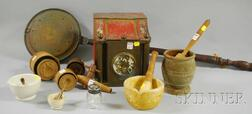 Group of Country Domestic and Kitchen Items