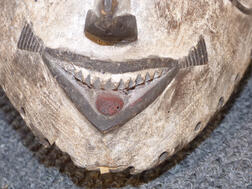Carved and Painted African Mask