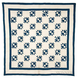 Pieced Geometric Cotton Quilt