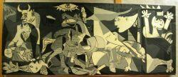 Large Oil Painting After Picassos Guernica.