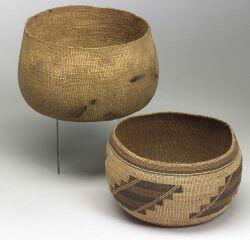 Two Northern California Twined Basketry Bowls