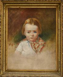 American School, 19th Century       Portrait of a Child.
