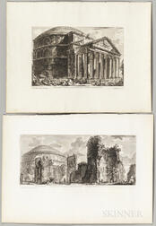Giovanni Battista Piranesi (Italian, 1720-1778)    Six Engravings of Views and Plans of The Pantheon