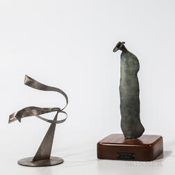 Two Sculptural Works:    Fred Schmidt (American, 1936-2001) Abstract