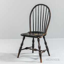 Black-painted Bow-back Windsor Chair