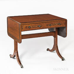 Regency Mahogany and Mahogany-veneered Sofa Table